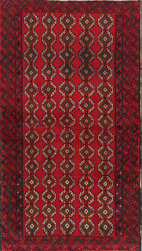 Geometric Tribal 4x6 Balouch Persian Area Rug
