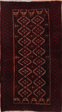 Geometric Tribal 3x6 Balouch Persian Rug Runner