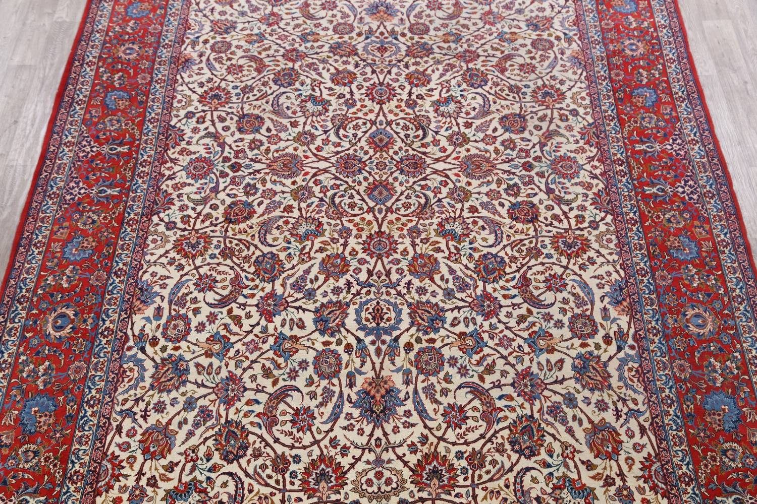 Antique Floral 10x16 Isfahan Persian Area Rug image 3