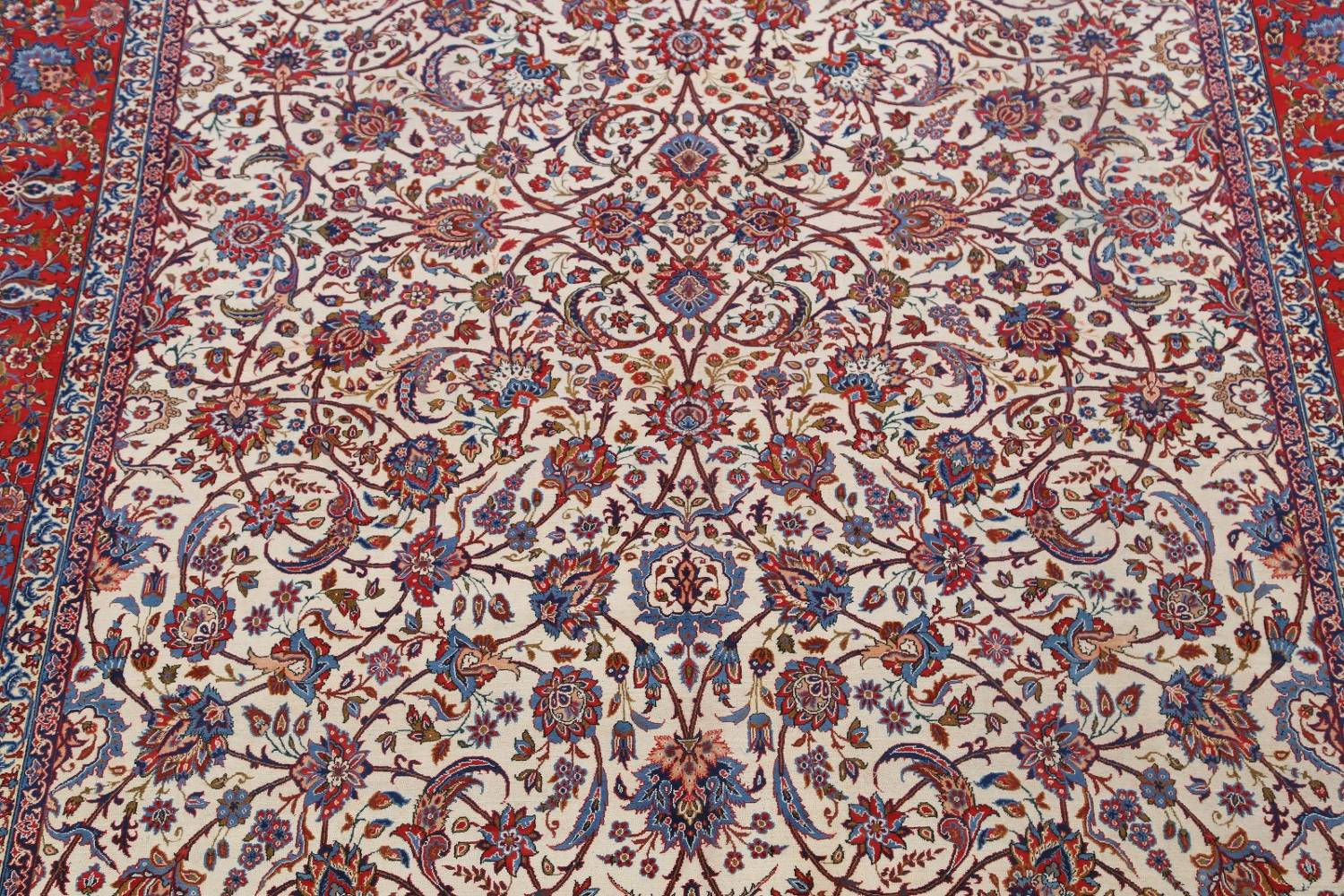 Antique Floral 10x16 Isfahan Persian Area Rug image 4