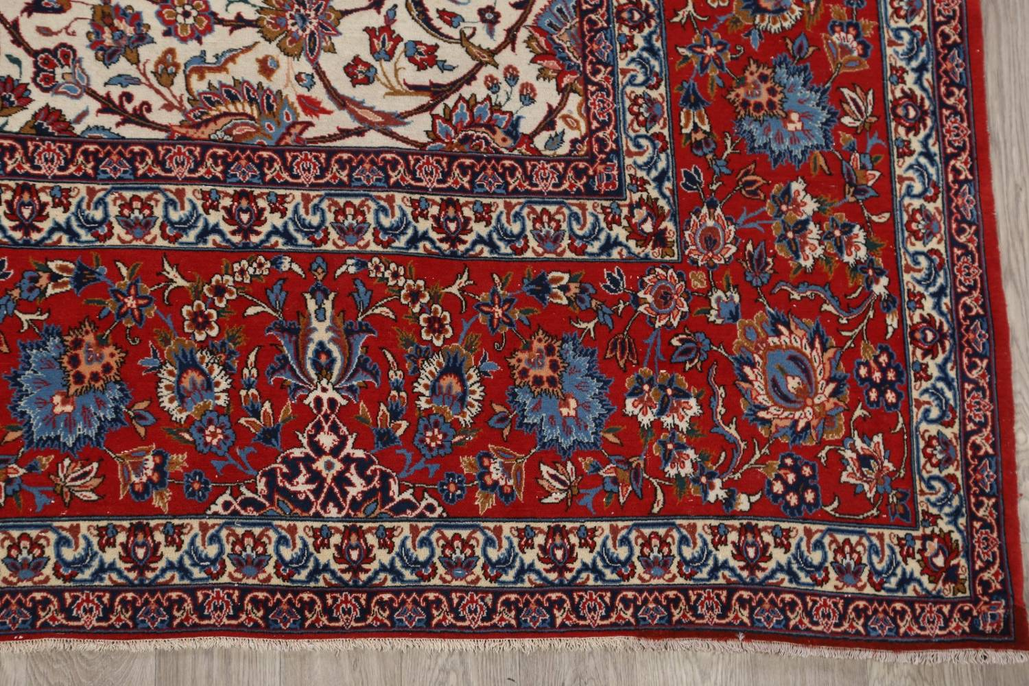 Antique Floral 10x16 Isfahan Persian Area Rug image 6