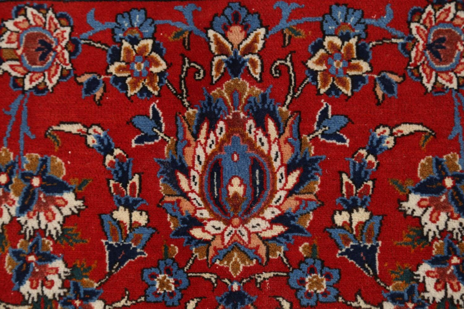 Antique Floral 10x16 Isfahan Persian Area Rug image 7
