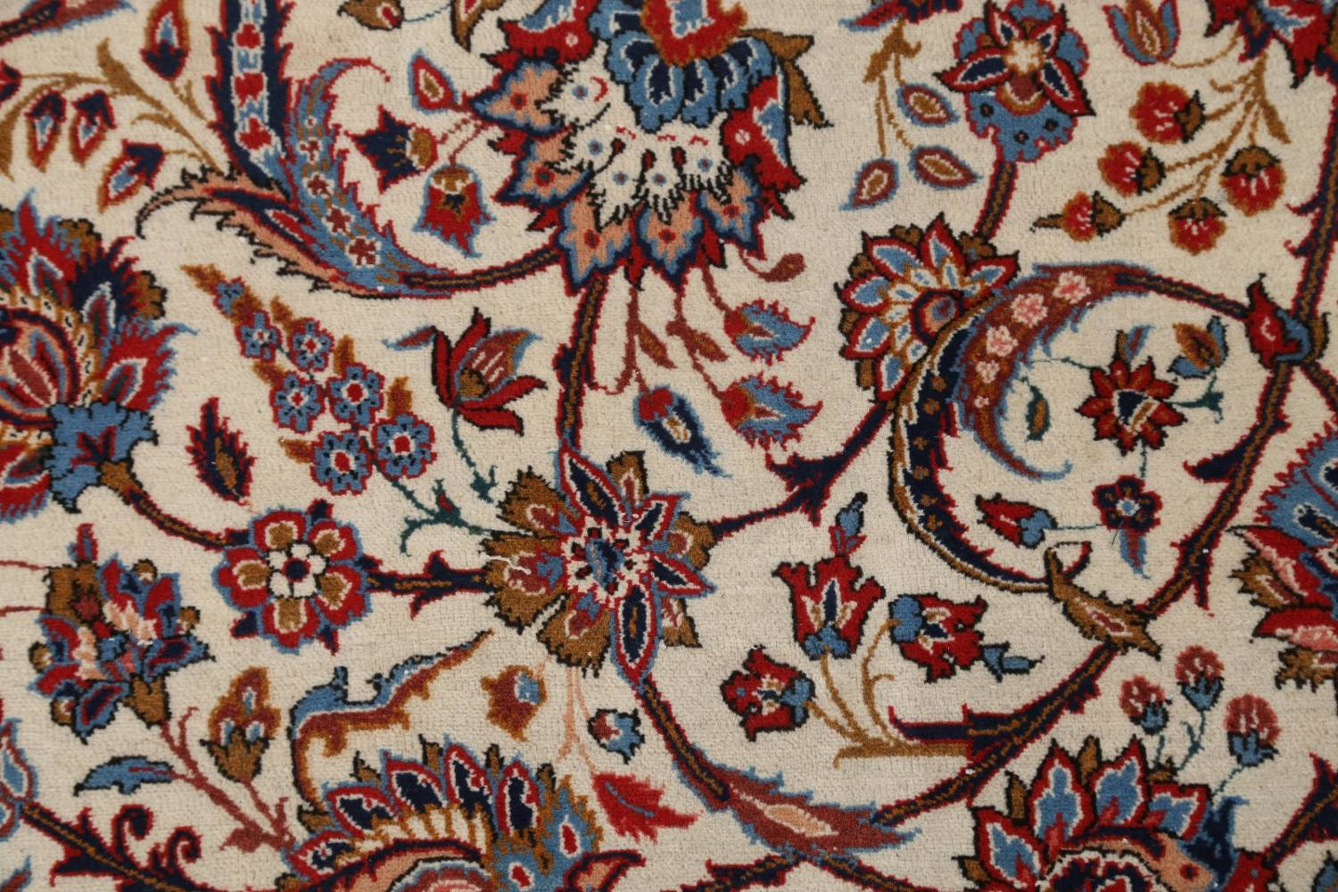 Antique Floral 10x16 Isfahan Persian Area Rug image 8