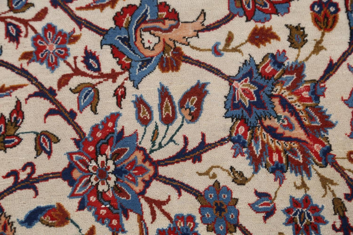 Antique Floral 10x16 Isfahan Persian Area Rug image 10