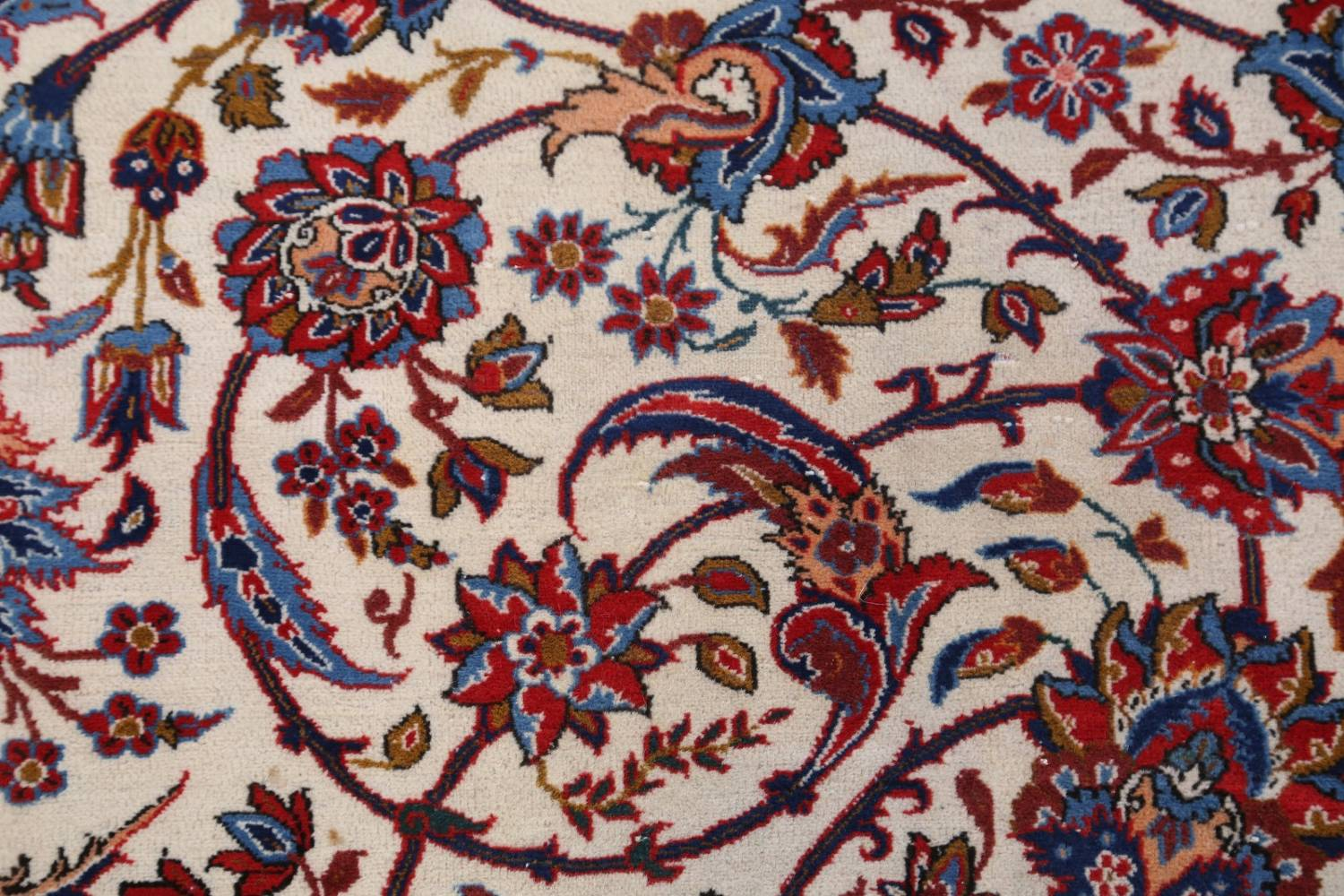 Antique Floral 10x16 Isfahan Persian Area Rug image 13