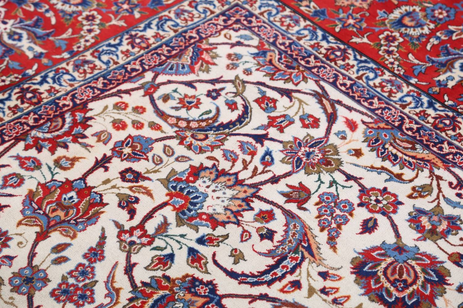 Antique Floral 10x16 Isfahan Persian Area Rug image 14