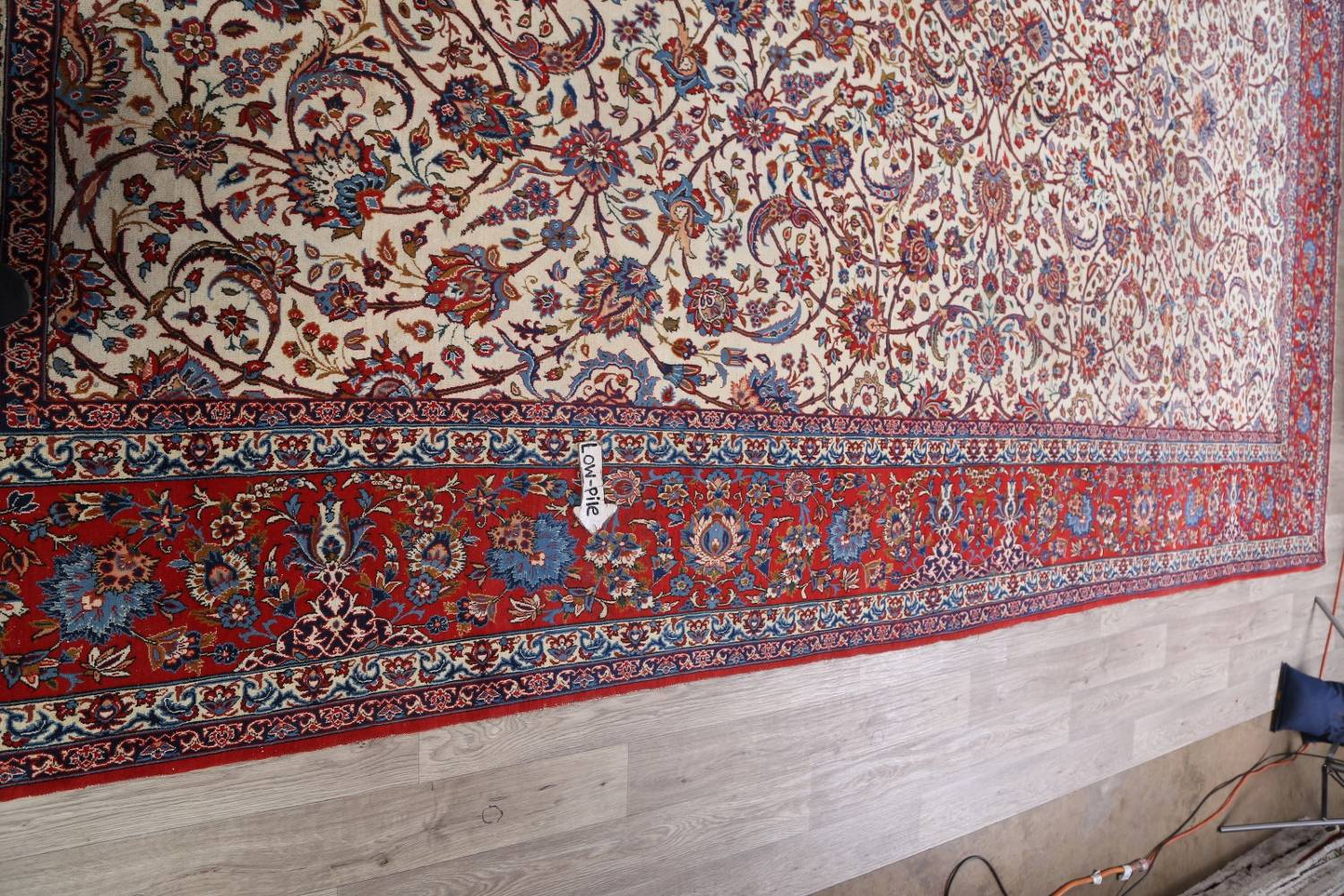 Antique Floral 10x16 Isfahan Persian Area Rug image 21