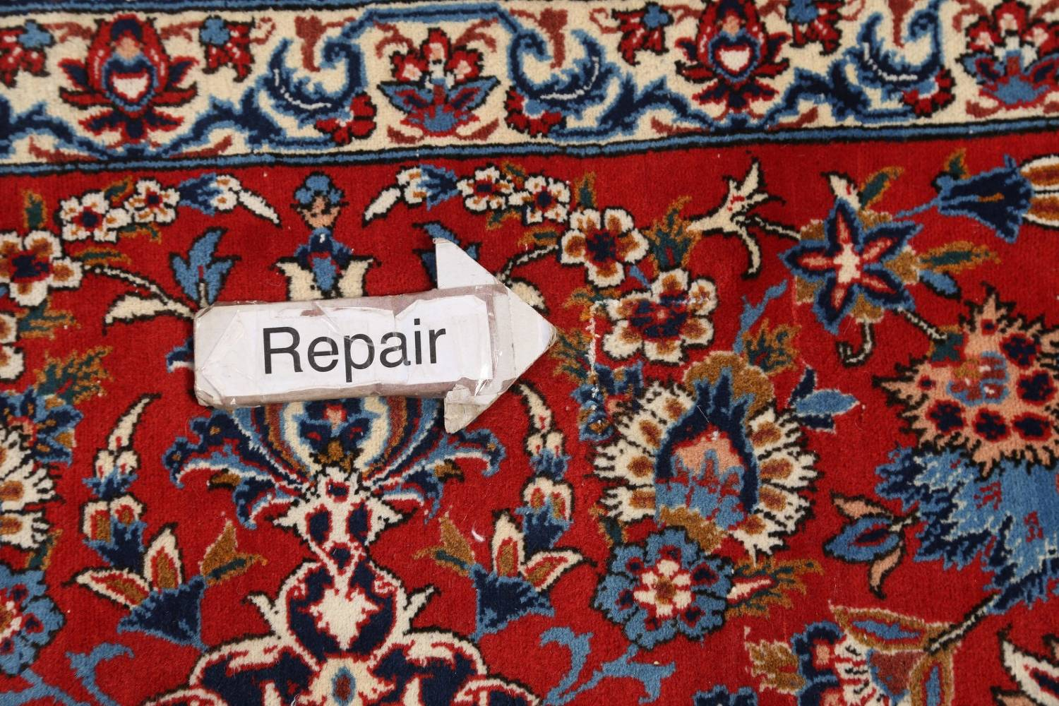 Antique Floral 10x16 Isfahan Persian Area Rug image 22