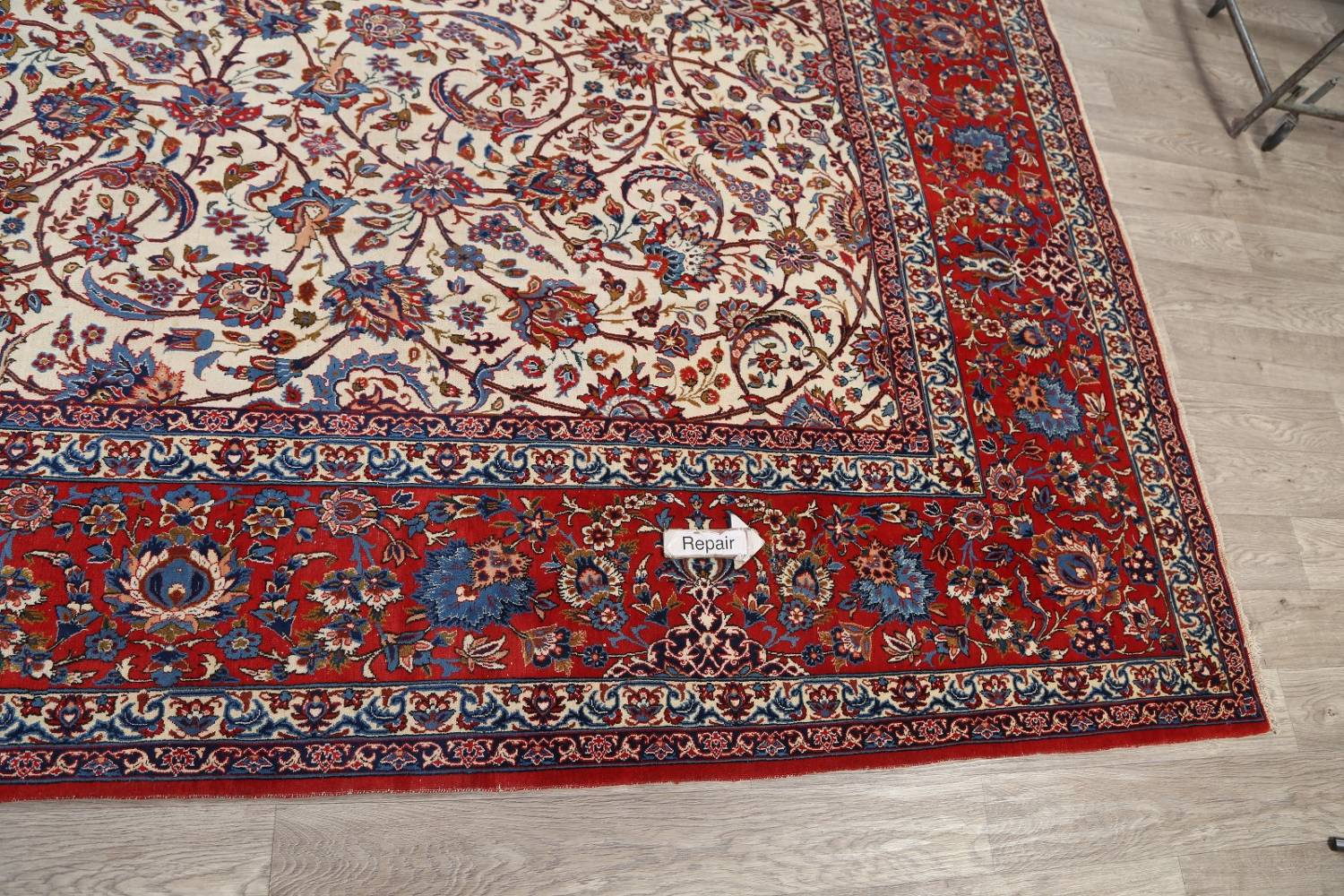 Antique Floral 10x16 Isfahan Persian Area Rug image 23