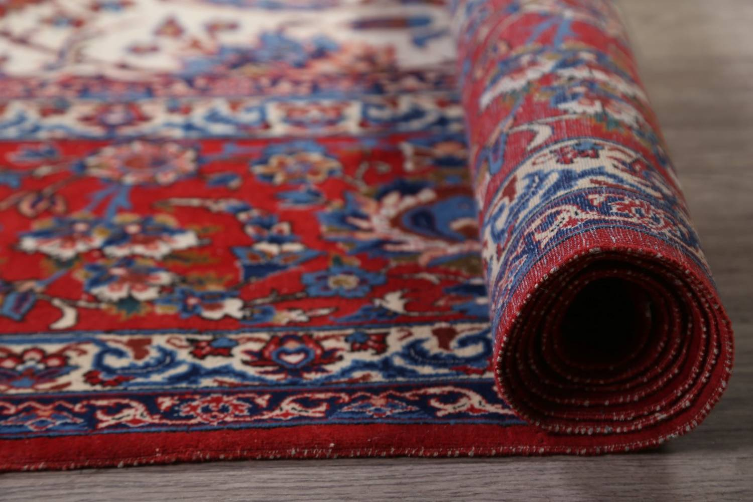 Antique Floral 10x16 Isfahan Persian Area Rug image 26