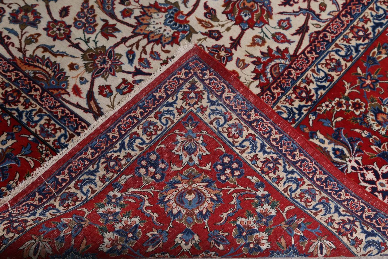 Antique Floral 10x16 Isfahan Persian Area Rug image 28