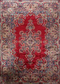 Floral Burgundy 10x14 Kerman Persian Area Rug