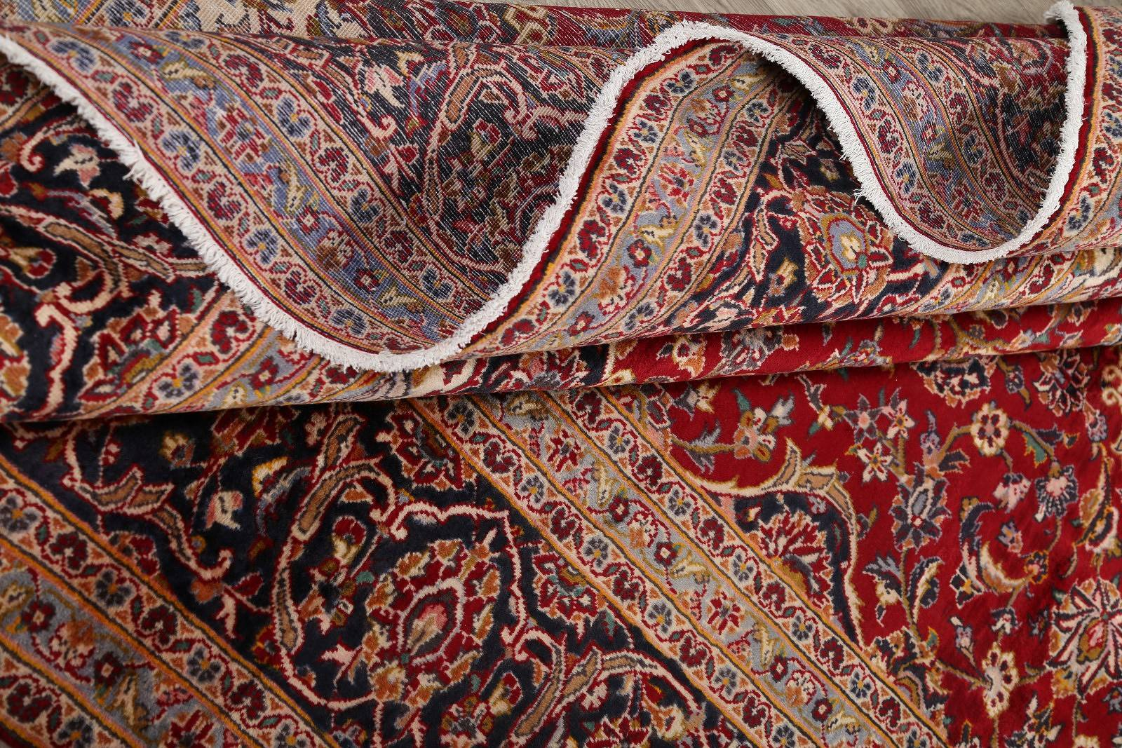 Floral 10x13 Kashan Persian Area Rug