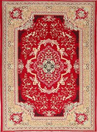 Soft Plush Floral 7x10 Kerman Persian Area Rug