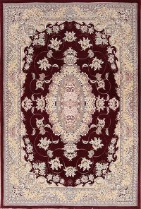 Soft Plush Floral 7x10 Isfahan Persian Area Rug