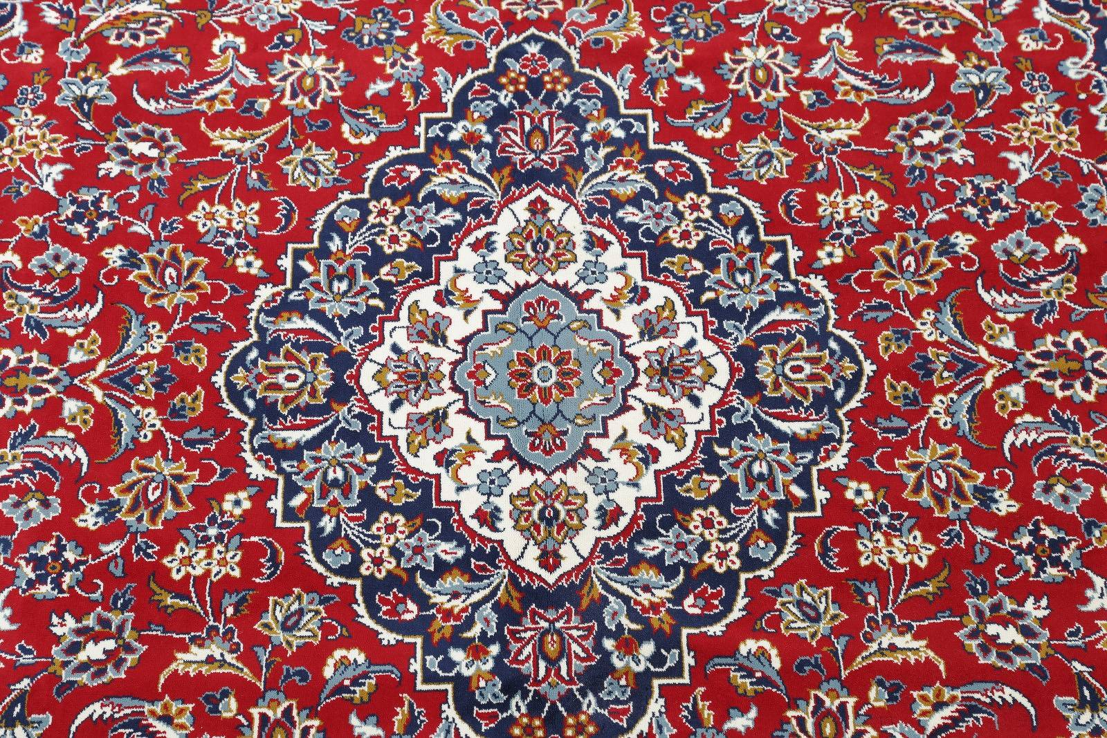 Soft Plush Floral Kashan Persian Area Rug 10x13