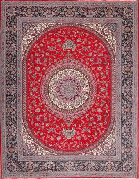 Soft Plush Floral 10x13 Kerman Persian Area Rug