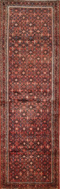 All-Over Pattern Floral 4x13 Hamedan Persian Rug Runner
