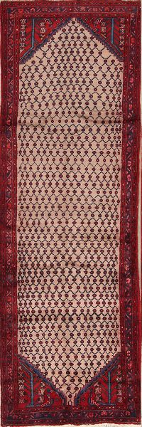 All-Over Geometric 3x10 Koliaei Hamadan Persian Rug Runner