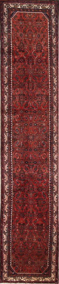 Geometric 3x16 Malayer Hamadan Persian Rug Runner