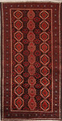 Geometric Tribal Black 5x9 Balouch Persian Area Rug