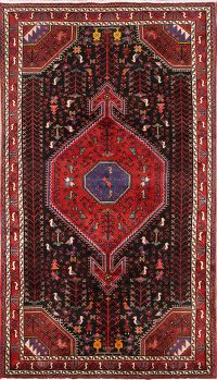 Little Animals/ Figures Tribal 5x8 Zanjan Persian Area Rug