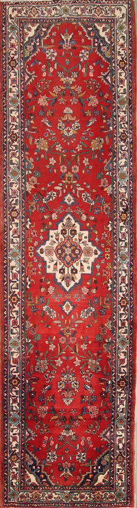 Floral Palace Size 4x15 Malayer Hamadan Persian Rug Runner