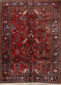 One-Of-a-Kind Vintage All-Over Heriz Persian Hand-Knotted 6x8 Wool Area Rug
