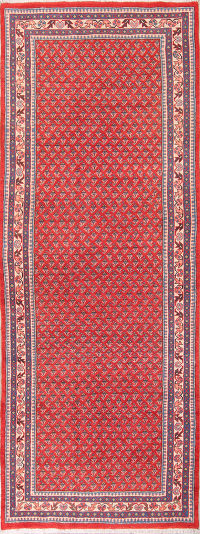 All-Over Geometric 4x10 Botemir Boteh Persian Rug Runner