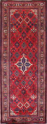 Geometric South-West  4x10 Joshaghan Persian Rug Runner