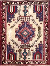 Geometric 4x6 Afshar Shiraz Persian Area Rug