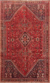 Geometric Tribal 6x9 Abadeh Shiraz Persian Area Rug