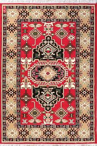 Geometric Traditional Kazak Acrylic Persian Oriental Room Size Area Rug