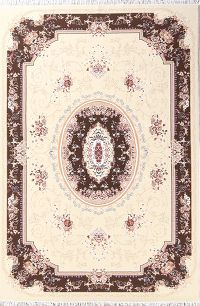Soft Plush Floral 7x10 Tabriz Persian Area Rug