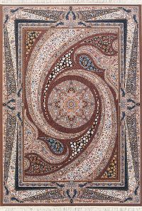 Soft Plush Geometric 8x12 Tabriz Persian Area Rug