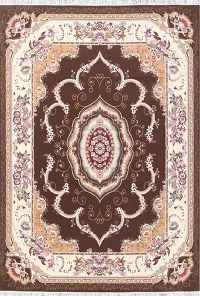 Soft Plush Floral Tabriz Persian Area Rug 8x12