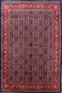All-Over Geometric 11x16 Sarouk Persian Area Rug