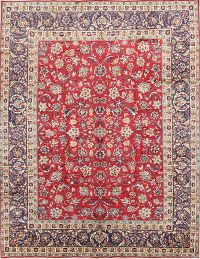 All-Over Floral Red 10x13 Yazd Persian Area Rug