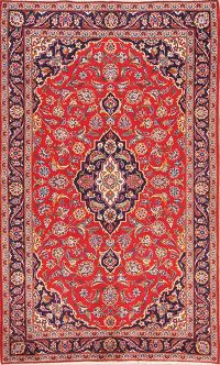Traditional Floral 4x7 Kashan Persian Area Rug