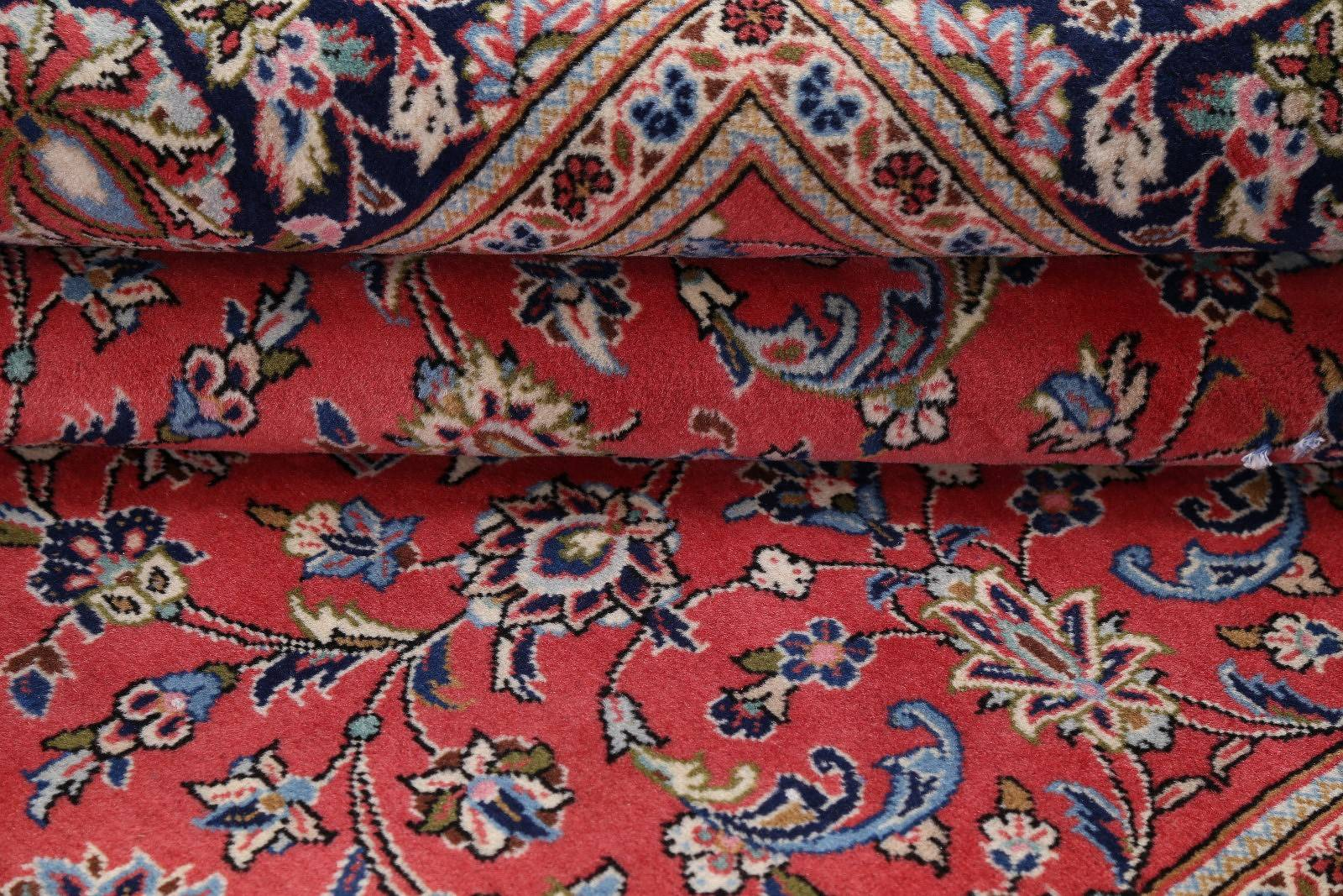 All-Over Floral 7x8 Sarouk Persian Area Rug