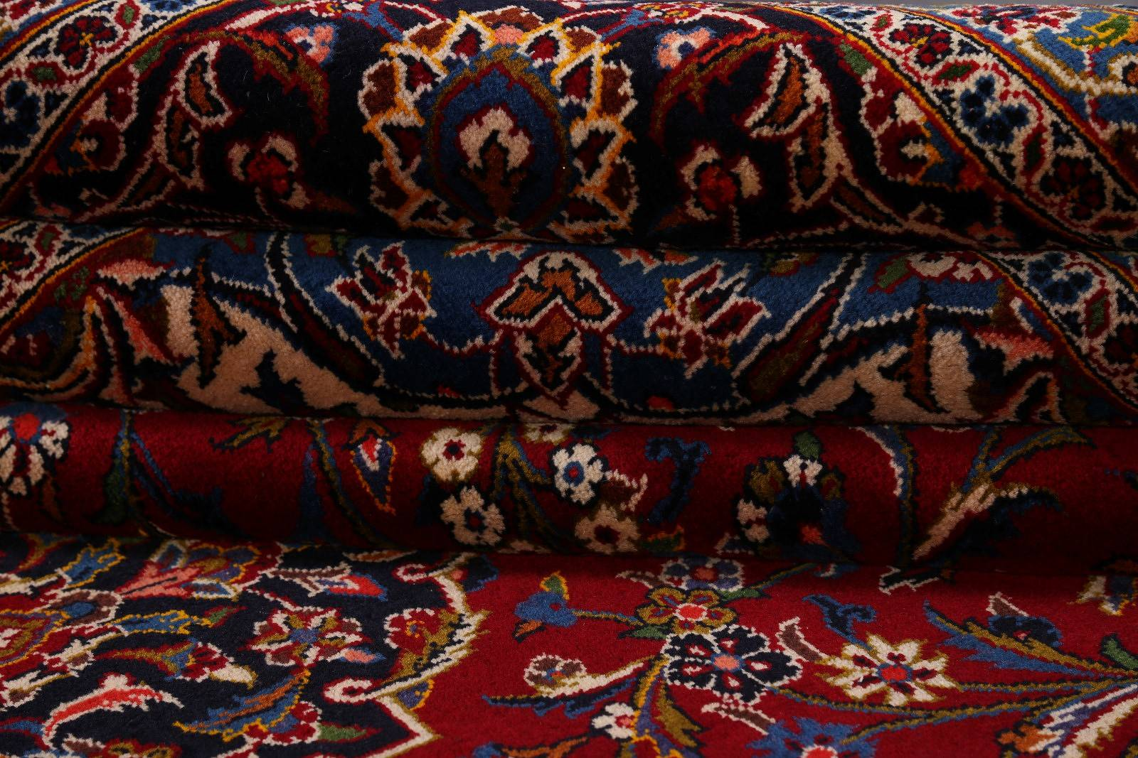 Floral Red 11x16 Kashan Persian Area Rug