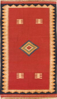 Tribal  3x6 Kilim Shiraz Persian Rug Runner