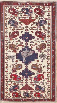 Animal Pictorial 3x5 Kilim Persian Area Rug