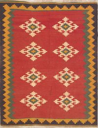 Kilim Shiraz Persian Area Rug 5x6