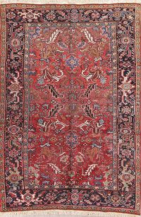 All-Over Geometric 6x9 Heriz Persian Area Rug