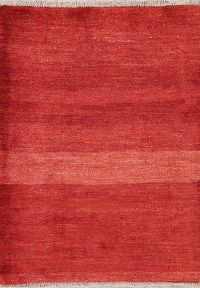Gabbeh Zolanvari Shiraz Persian Red Rug 3x4