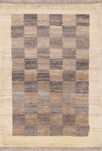 Checked 3x4 Gabbeh Zolanvari Shiraz Persian Area Rug