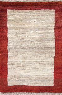 Contemporary 3x4 Gabbeh Zolanvari Shiraz Persian Area Rug
