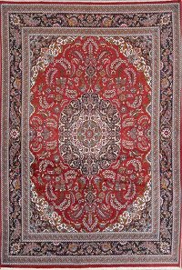 Soft Plush Floral 9x13 Kashan Persian Area Rug