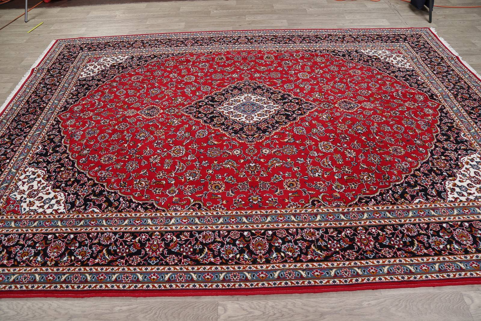 Soft Plush Floral 8x1 Kashan Persian Area Rug